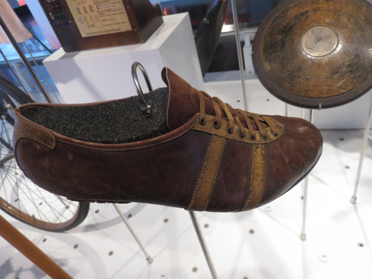 Jesse Owen's running shoe, just one of many exhibition displays to enthral and excite