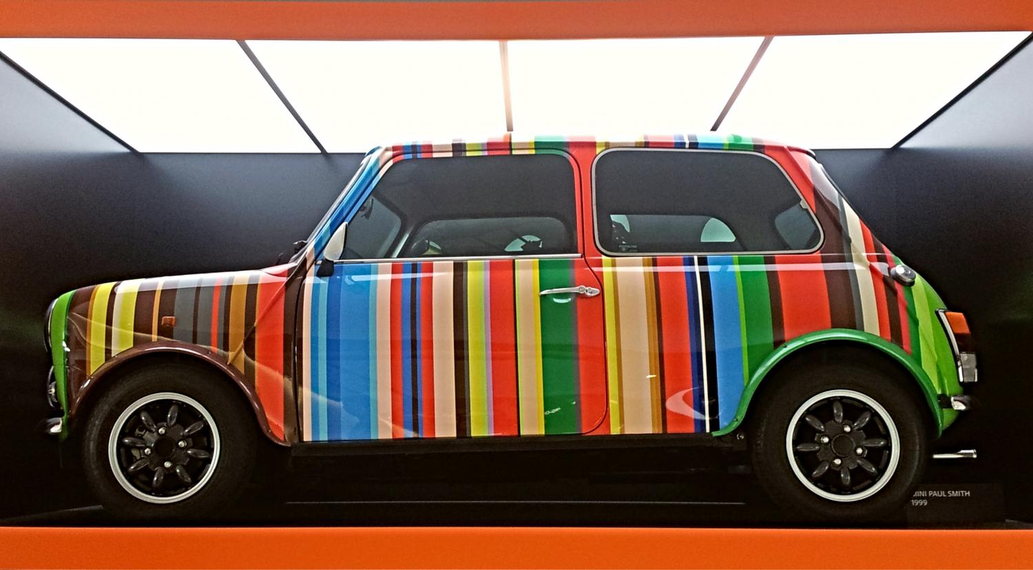 The Paul Smith mini at the BMW Museum, Munich