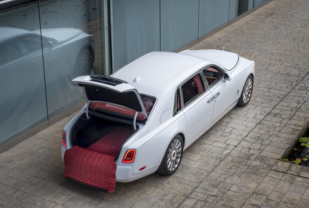 Arctic White and Hotspur Red Interior with Luggage Compartment