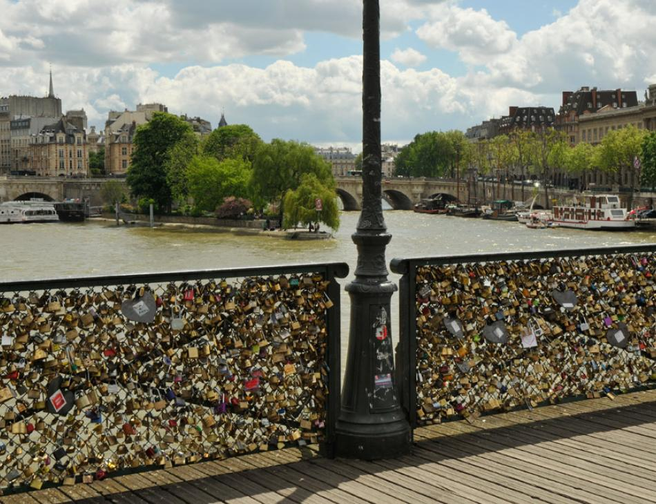 Paris Pont des Arts view of Isle St Louis