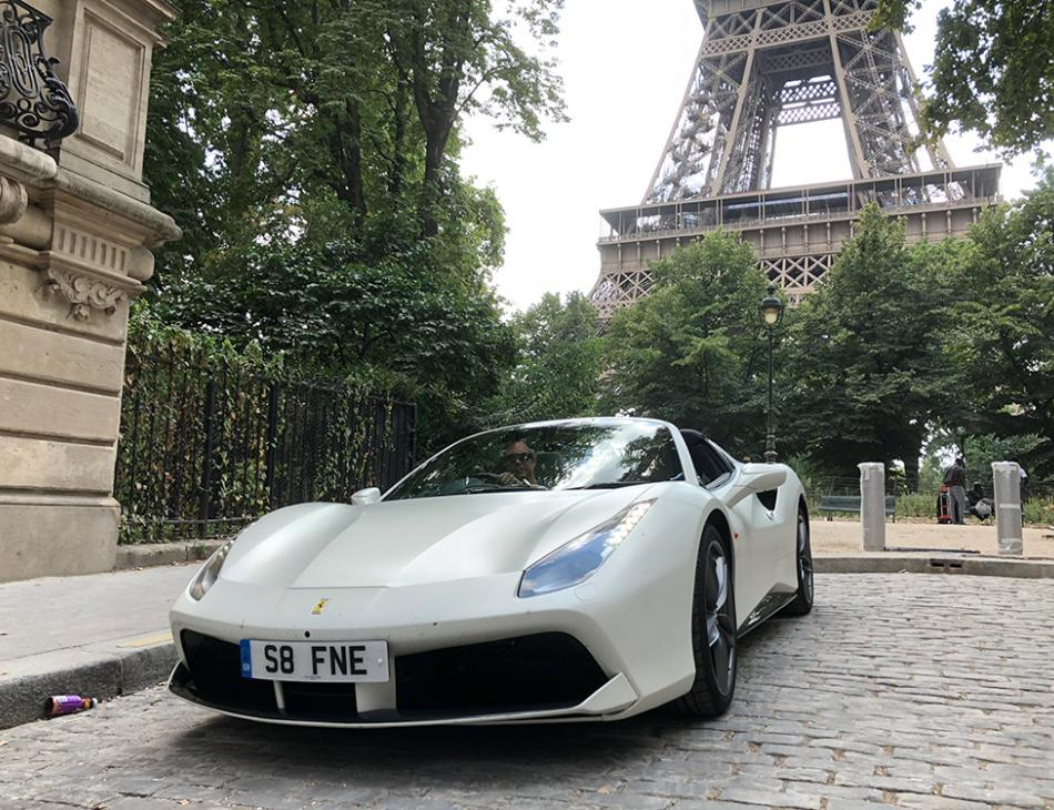 Ferrari 488 Spider Luxury Tour To Paris