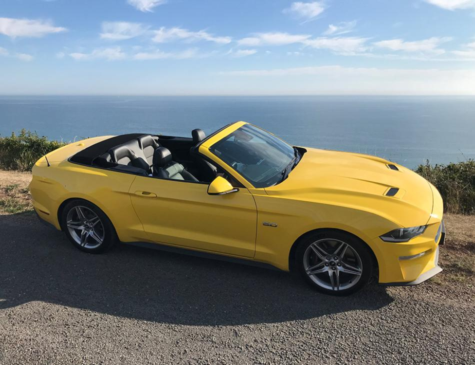 Flamboyant Ford Mustang 5.0L V8 GT Convertible 10SP Automatic In Triple Yellow Review