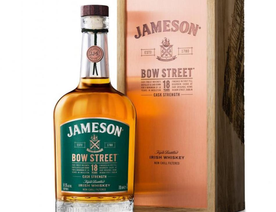 Jameson Unveils Bow Street 18 Years Cask Strength And New Cheese Pairing Ritual Ahead Of St. Patrick's Day 2019