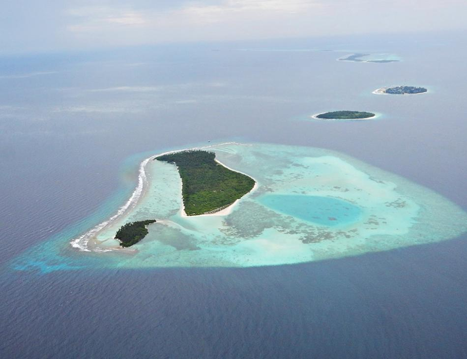 Maldives Islands Aerial View