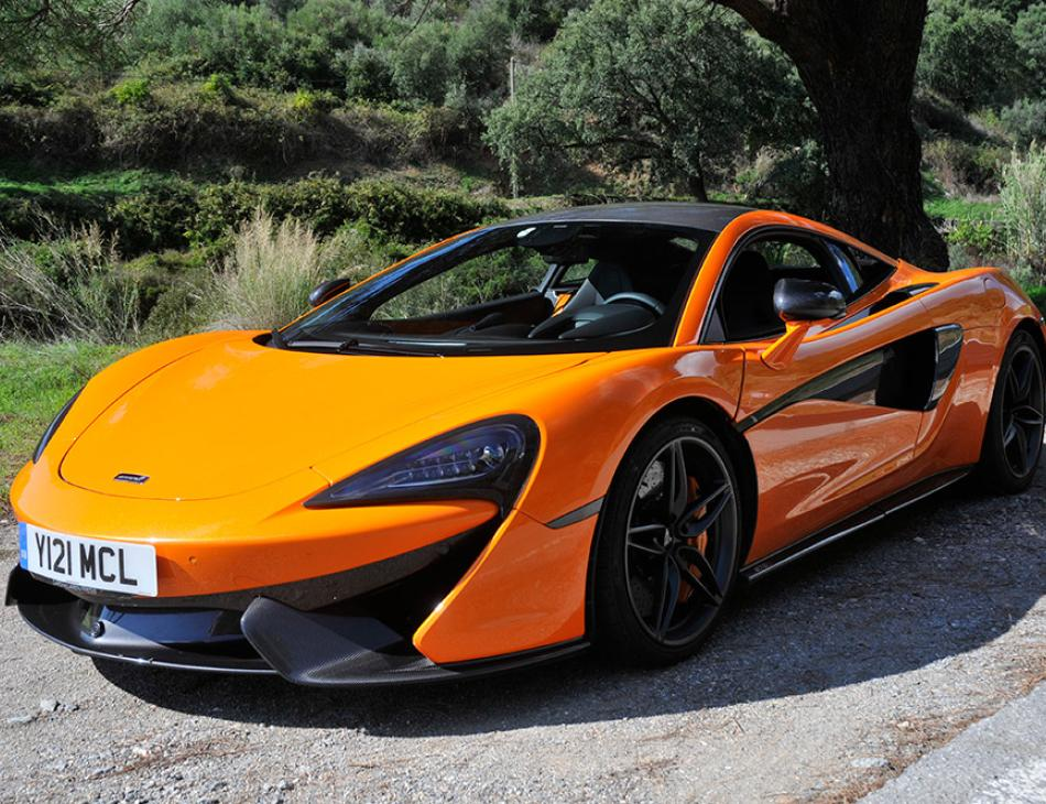 McLaren 570S in Orange Country Road