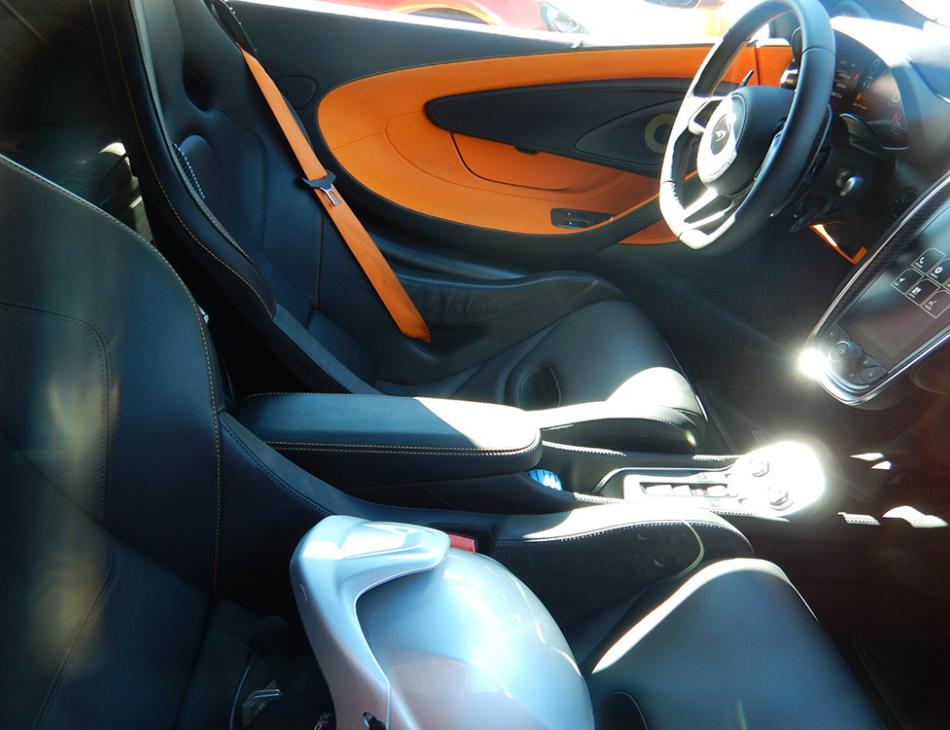 McLaren 570S Interior With Race Helmet On Track