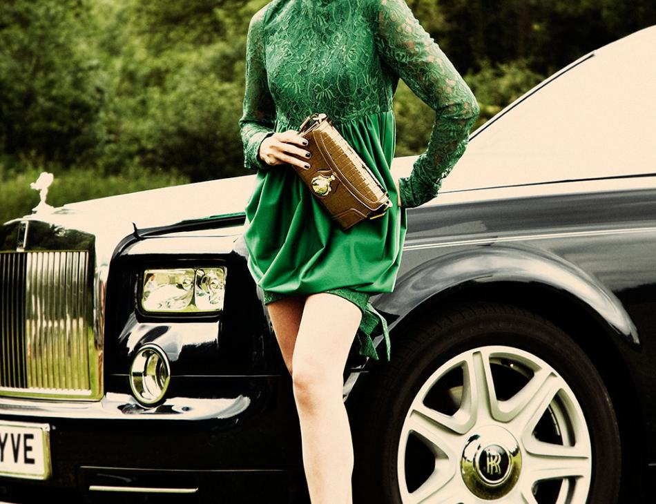 Rolls Royce Fashion Green Chic