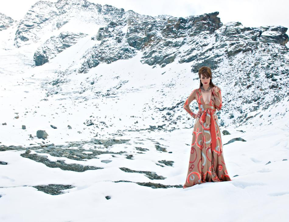 Verbier Winter Fashion Silk Snow