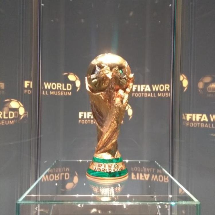 The FIFA World Cup Trophy is the centre-piece of the museum